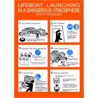 LIFEBOAT LAUNCHING IN A DANGEROUS ATMOSPHERE