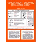 SERIOUS INJURY, DROWNING OR ELECTRIC SHOCK