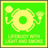 LIFEBUOY WITH LIGHT AND SMOKE