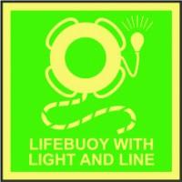 LIFEBUOY WITH LIGHT AND LINE