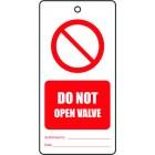 DO NOT OPEN VALVE