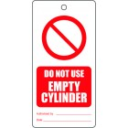 DO NOT USE EMPTY CILINDER